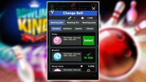 bowling king change ball menu