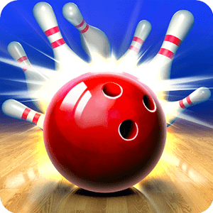 bowling king red ball pin strike