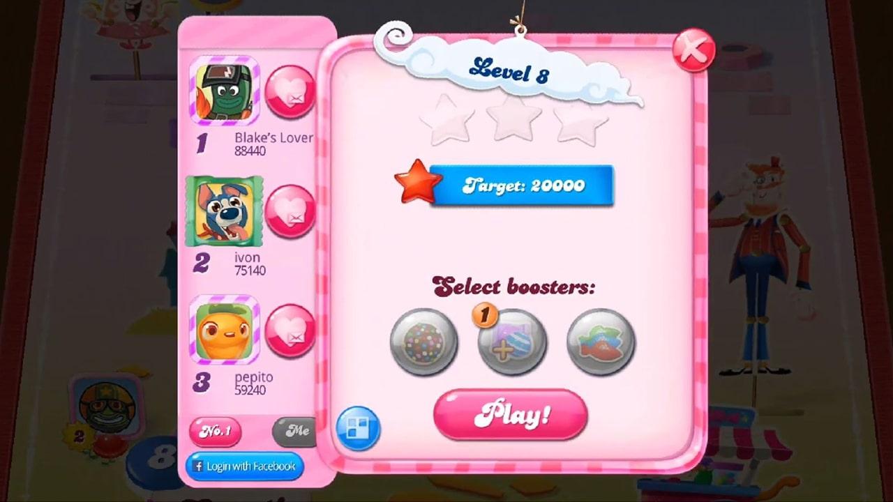 Candy Crush Saga Level Target