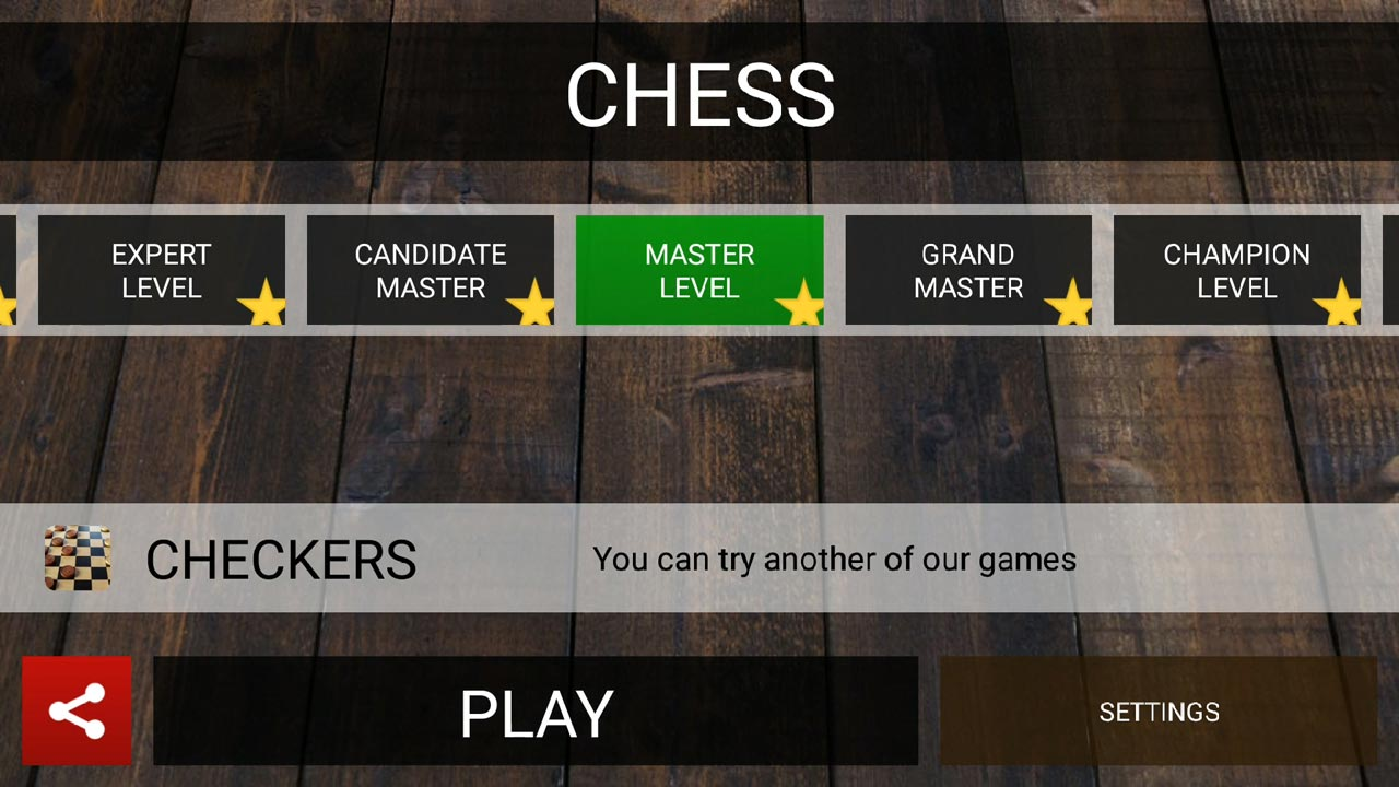 chess master difficulty levels