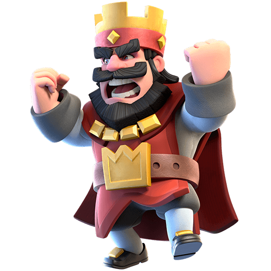 clash royale angry red king