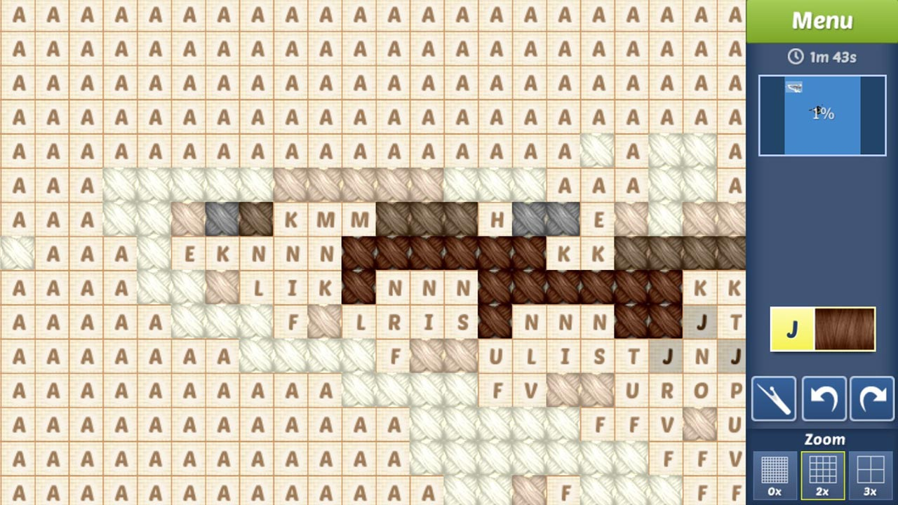 Cross Stitch text pattern eye