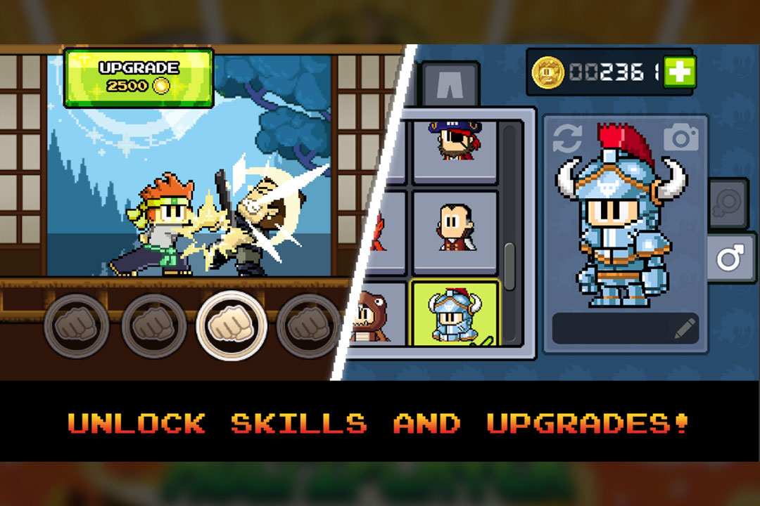 dantheman skills unlock and skins