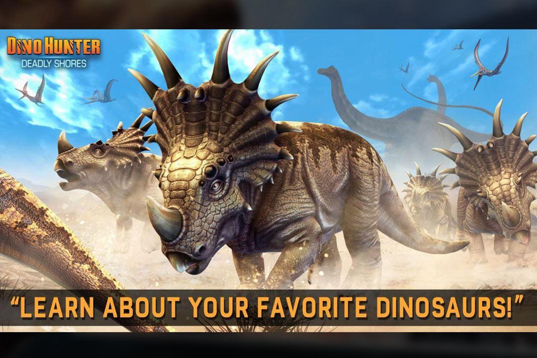 Dino Hunter tryceratops herd running