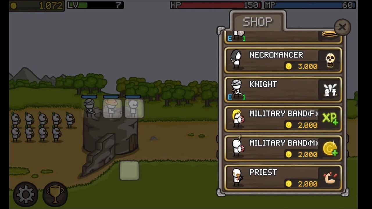 Grow Castle Job Character Shop