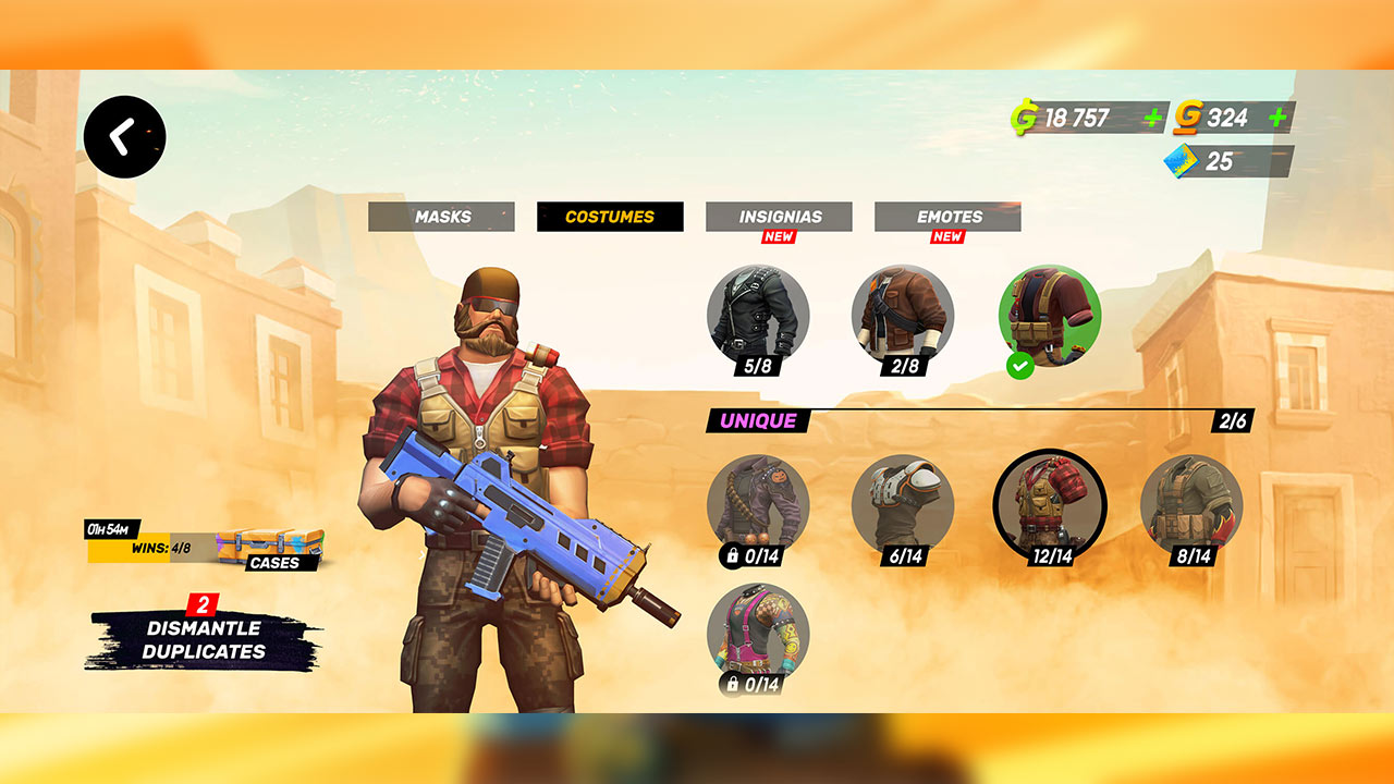Guns of Boom Online Shooter Custome Change