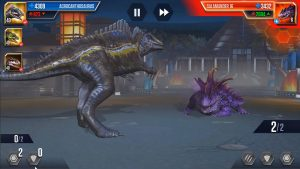 jurassic world the game fight
