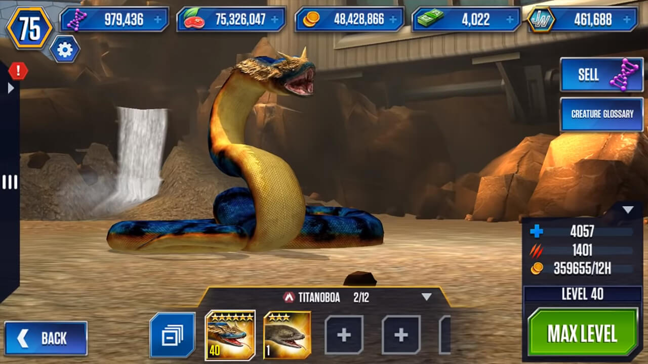 jurassic world the max level