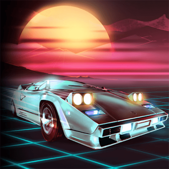 music racer retro visual