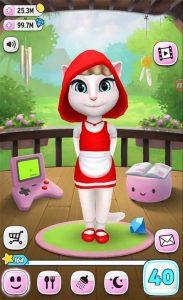 My Talking Angela Hoodie Red