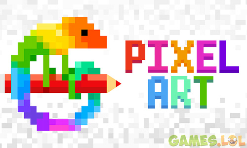 Pixel Art Color The Lizard