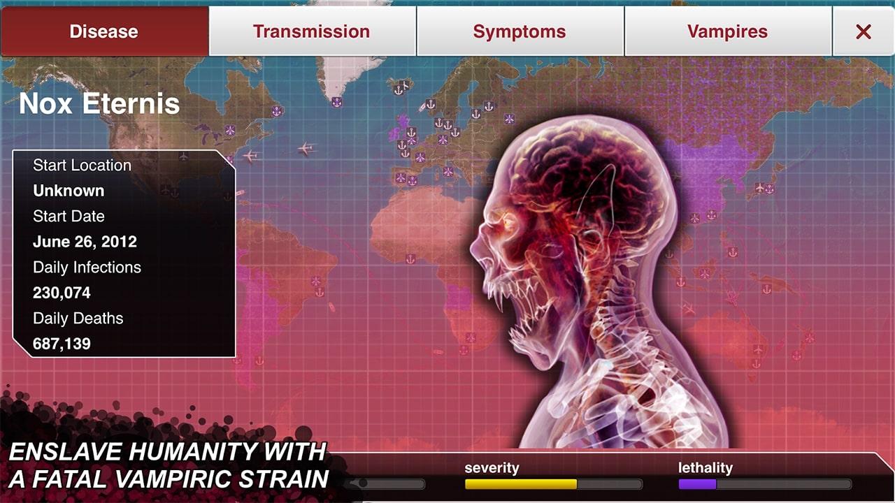 Plague Inc Fatal Vampiric Strain