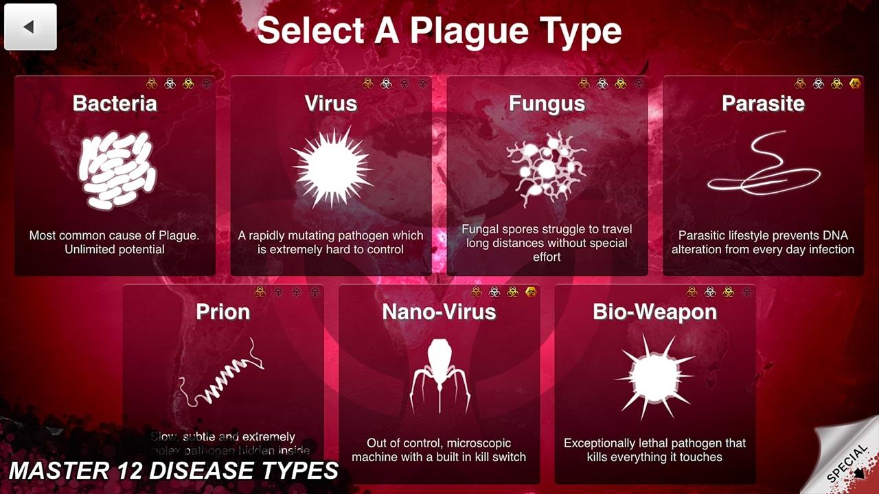 Plague Inc Select a Plague Type