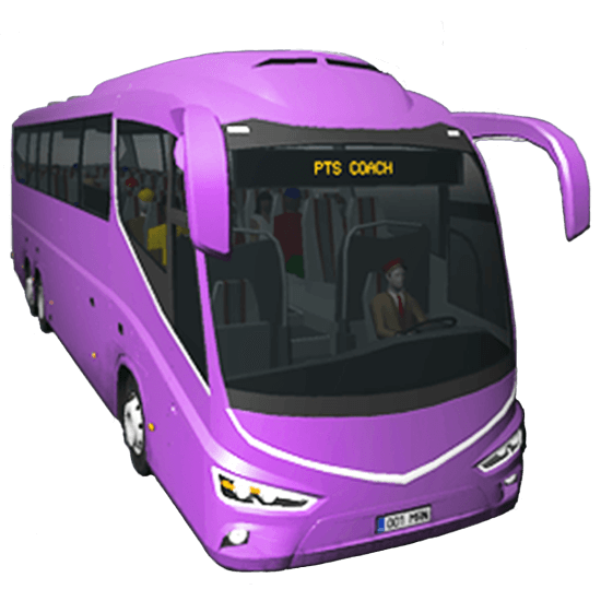 public transport bus purple