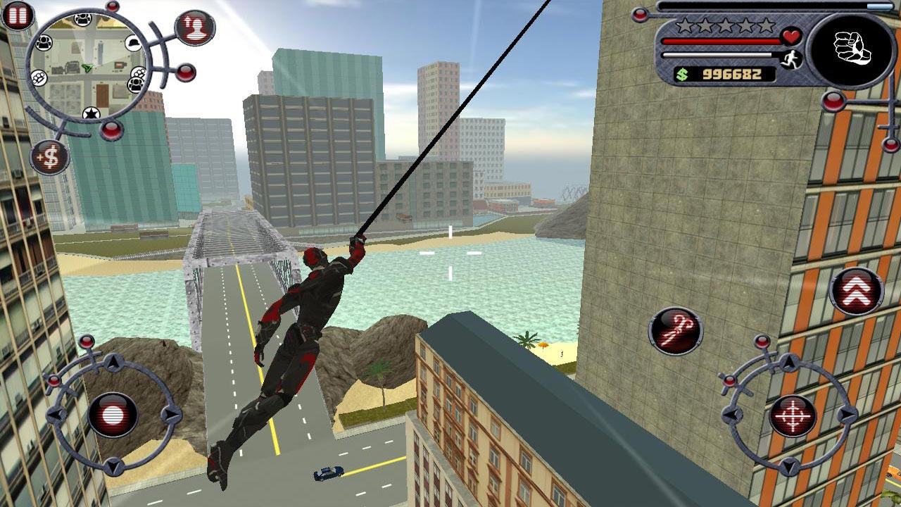 Rope Hero Fly Away