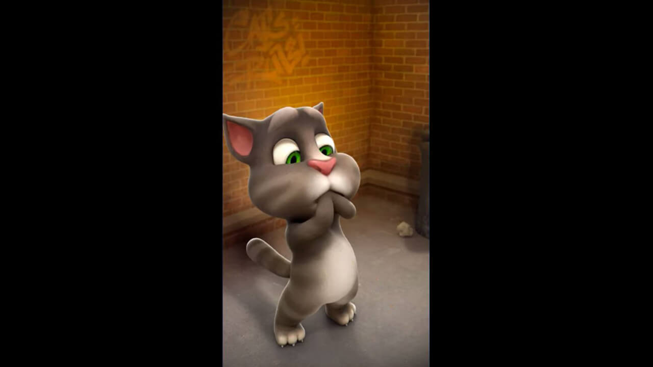 talking tom cat mouth hands