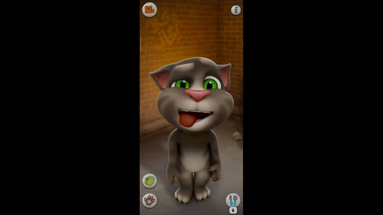 Talking Tom Cat Tongue Tired
