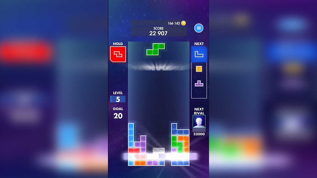 Tetris Progress To Clear Line