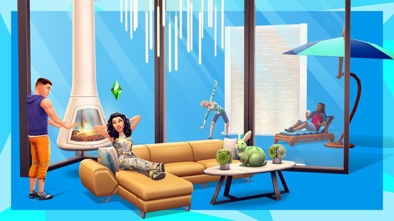 the sims mobile living room