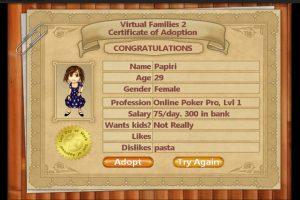Virtual Families Certificate