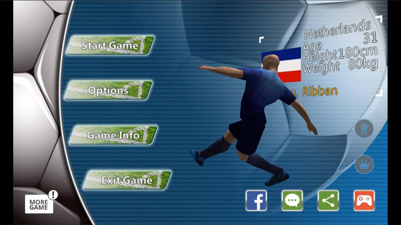 World Soccer League Homescreen