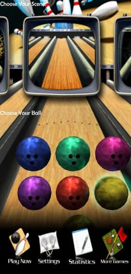 3d Bowling Different Colors of Ball