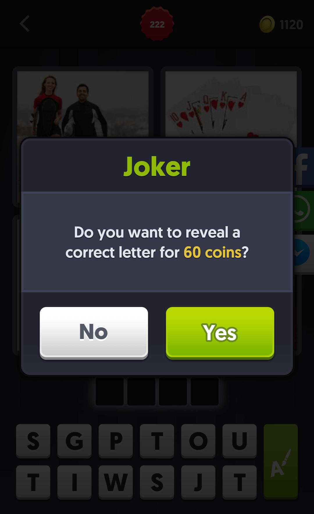 4 Pics 1 Word Use The Joker