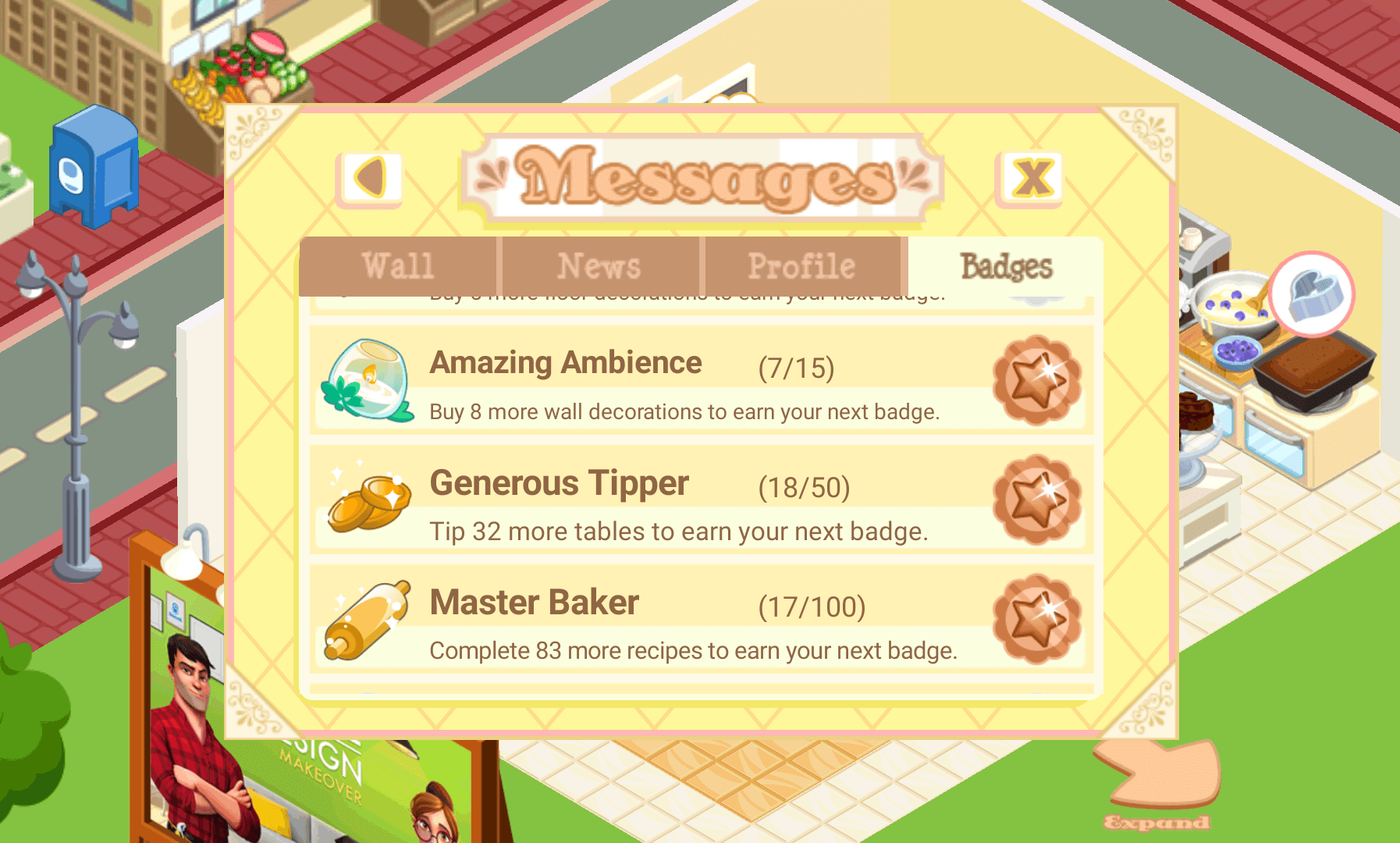 Bakery Story Messages