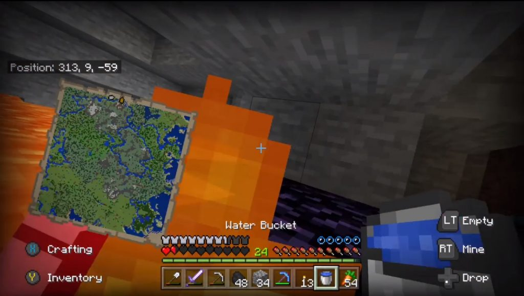 Bring Water When Mining Minecraft