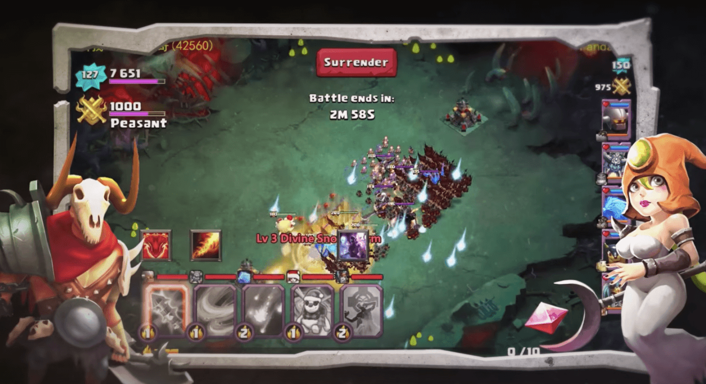Clash of Lords 2 Witch and Skull Warrior