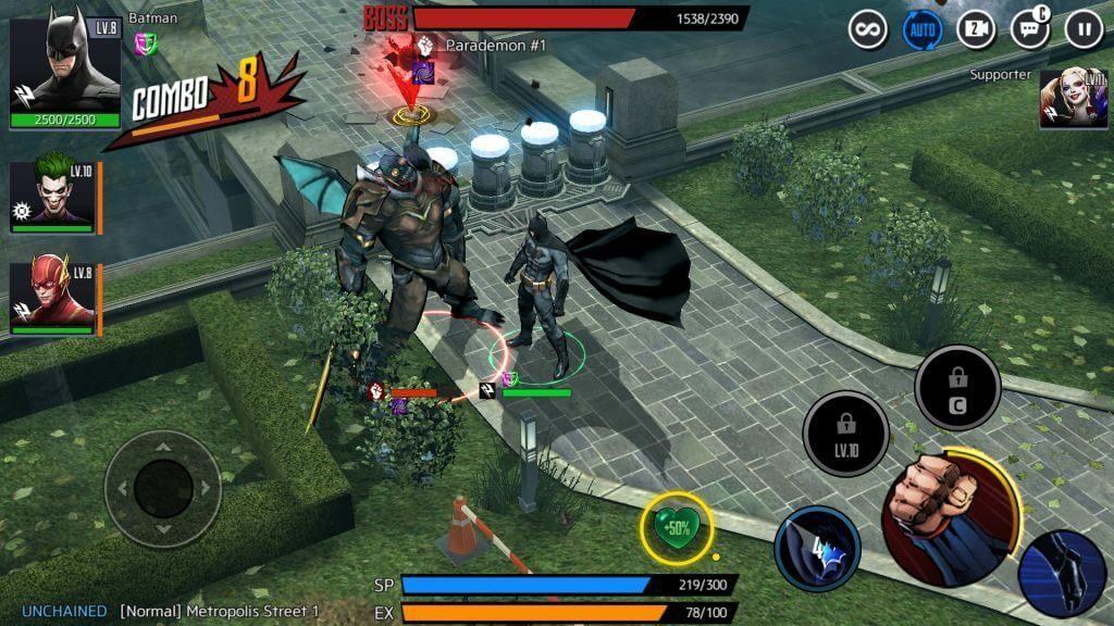 DCUnchained batman vs parademon gate monster