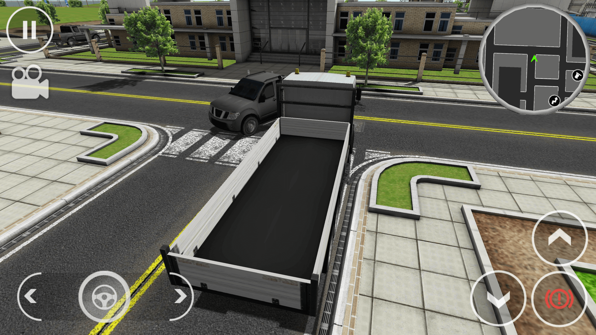 Drive Simulator suv entering parking