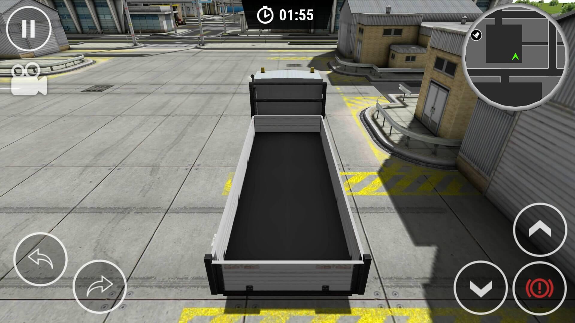 Drive Simulator empty delivery truck