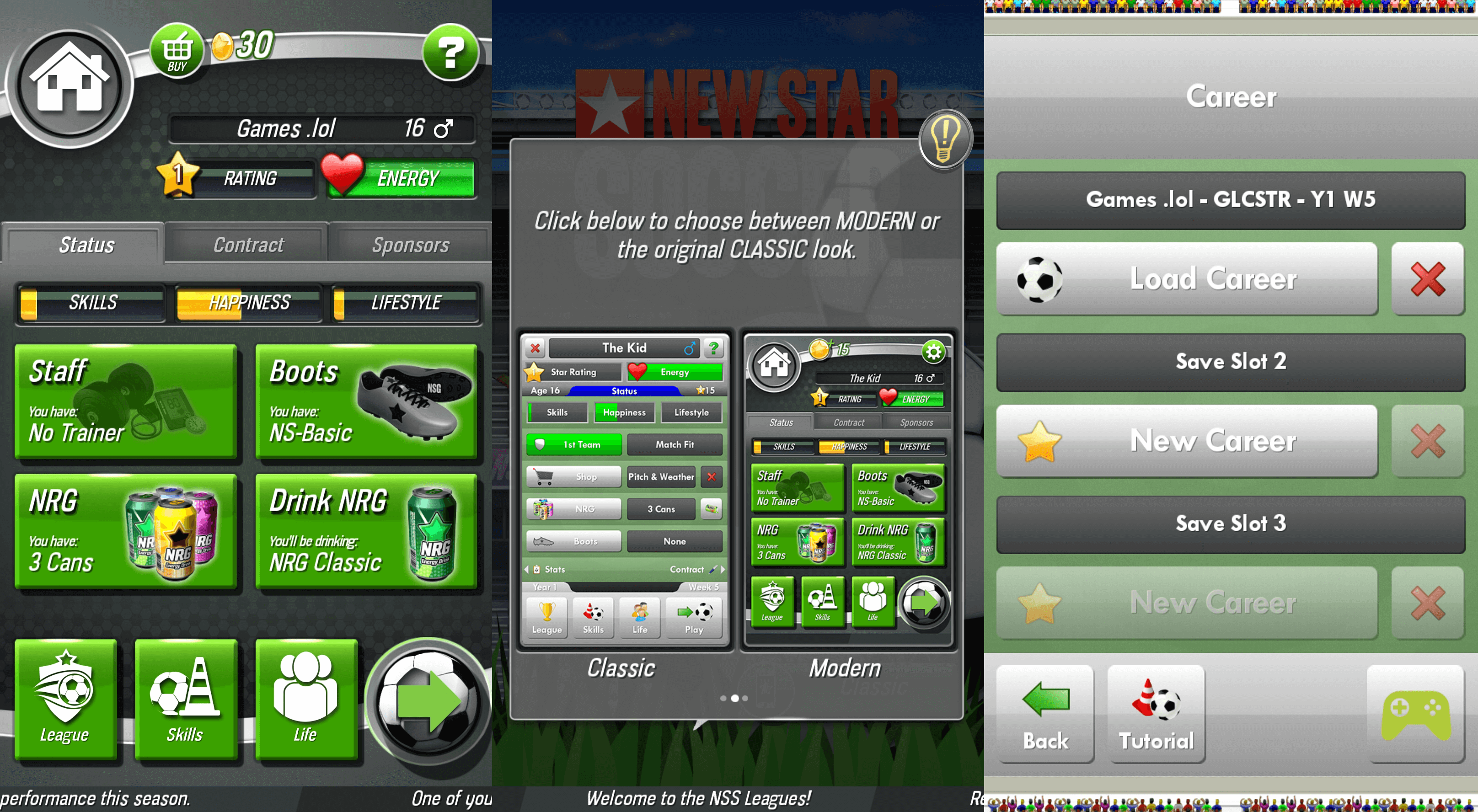 New Star Soccer Game Modes