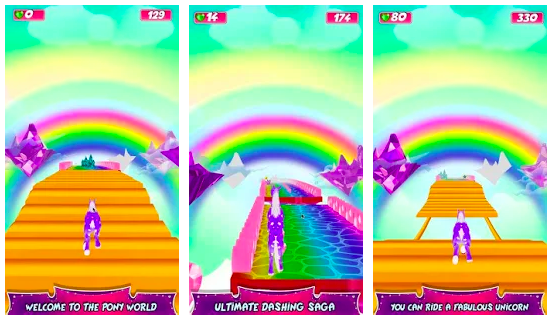 unicorn fantasy run 3d game