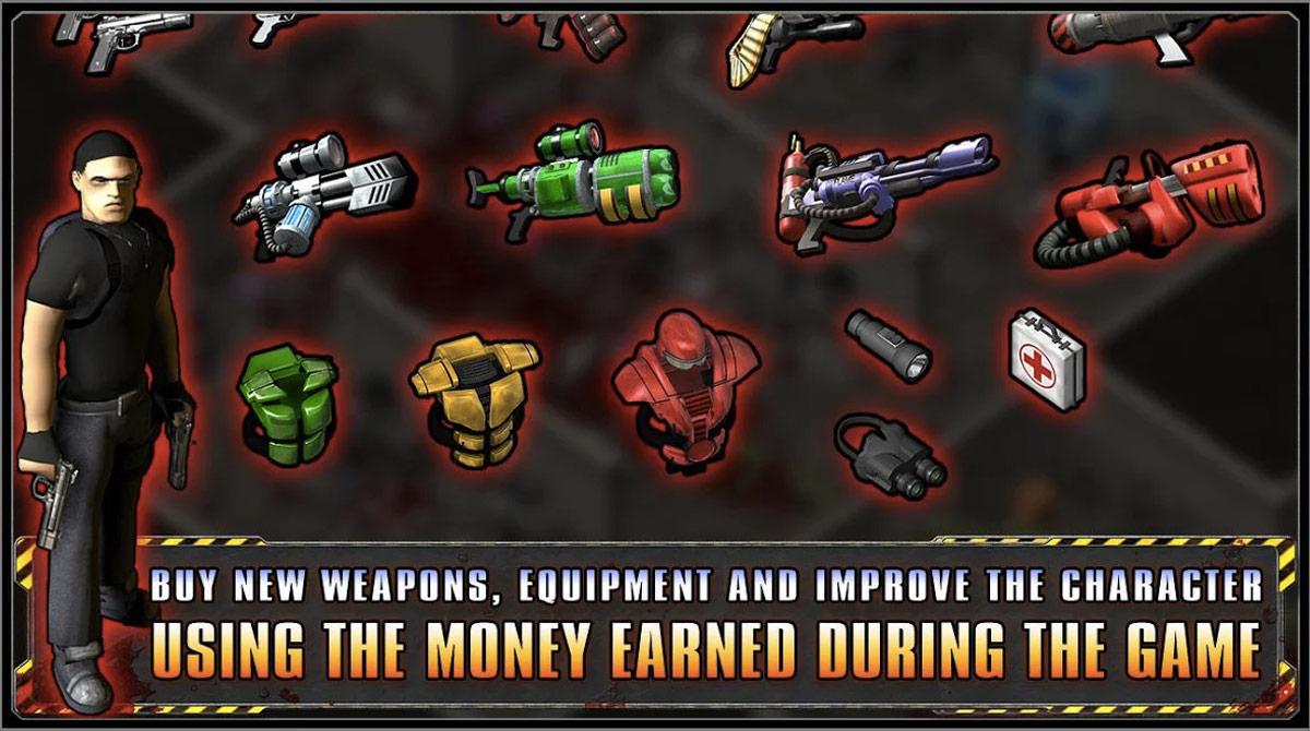 alien shooter money earned during game