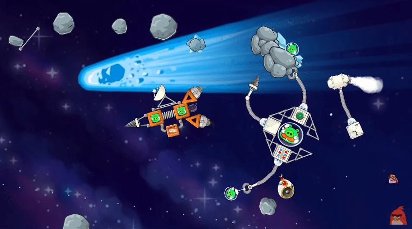 angry birds space tactics
