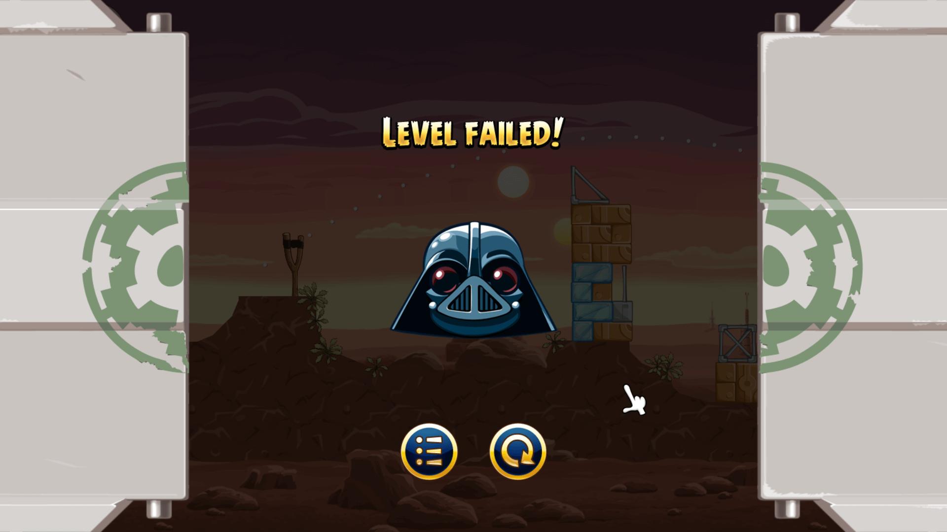 Angry Birds Star Wars Failed