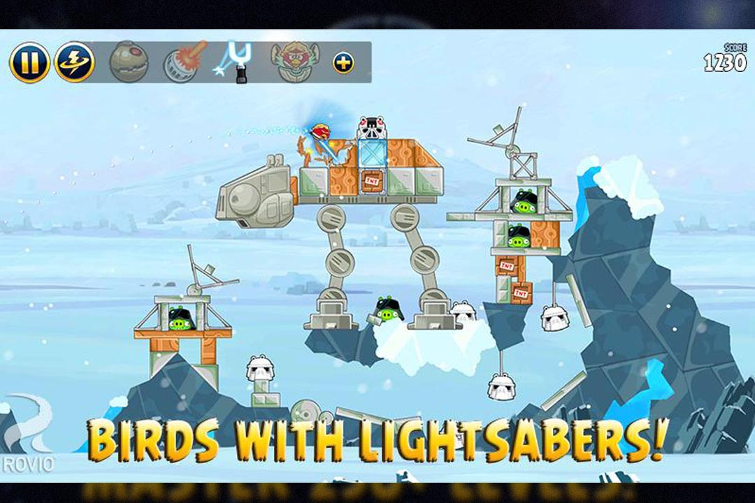 angry birds starwars lightsabers