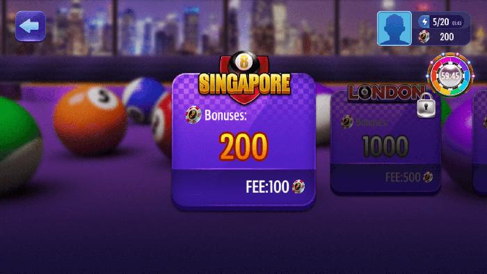 Billiards Singapore Bonus