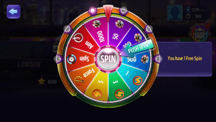 Billiards Spin the Wheel