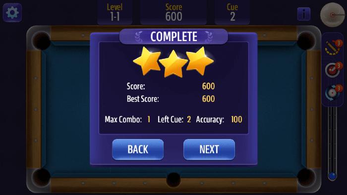 Billiards 3 Stars