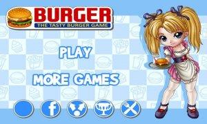 burger blonde waitress serves burger