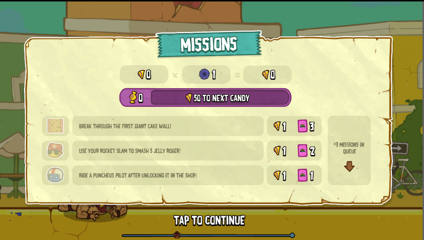 burrito bison three missions to next candy