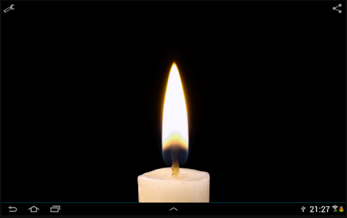 candle steady fire