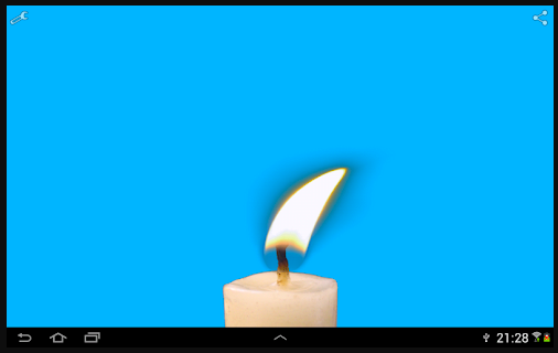 candle sway blue wall