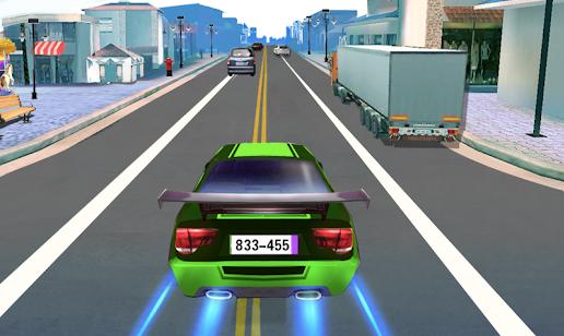 car racing green car speeding