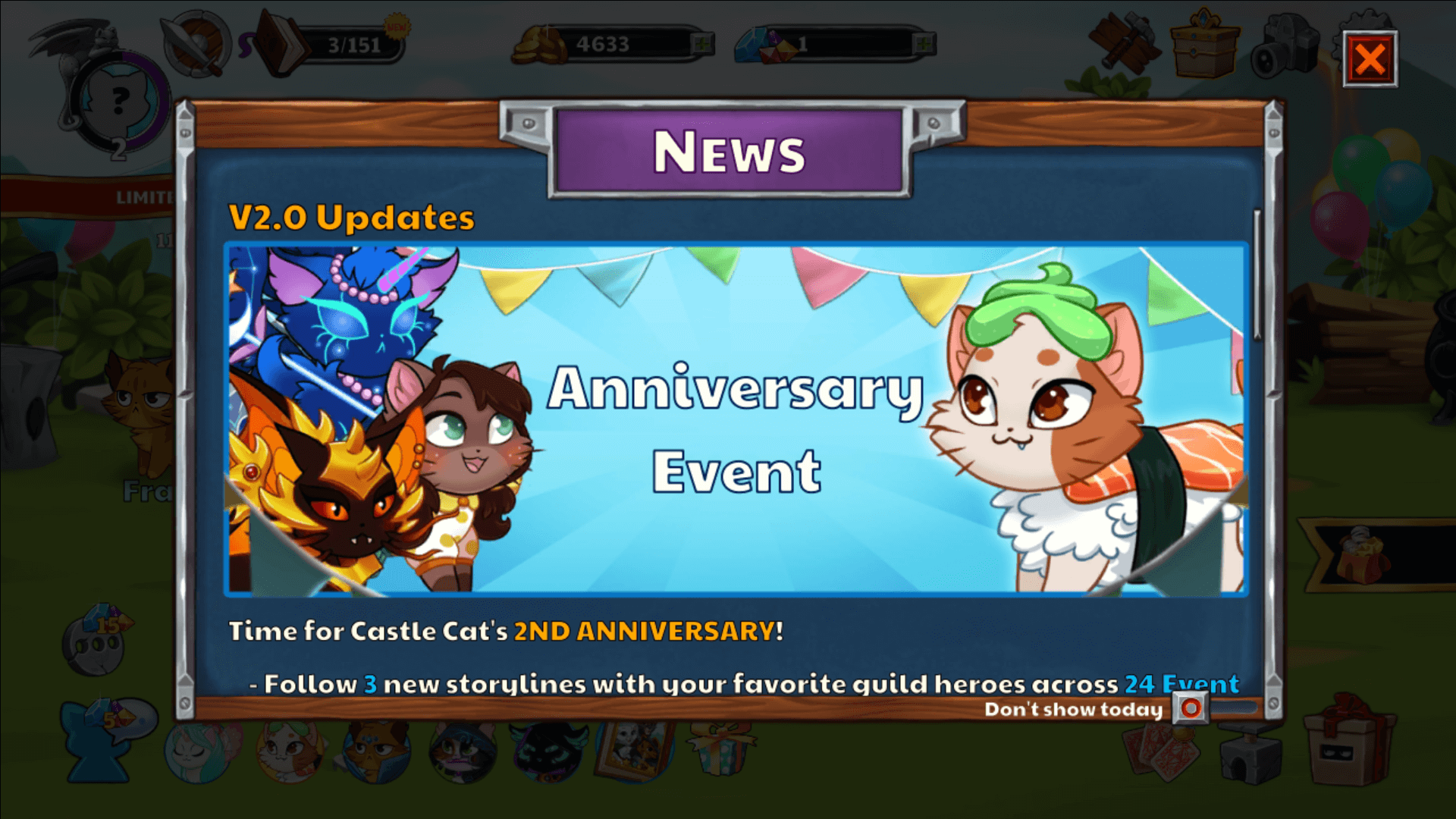 castle cart 2nd anniversay event banner