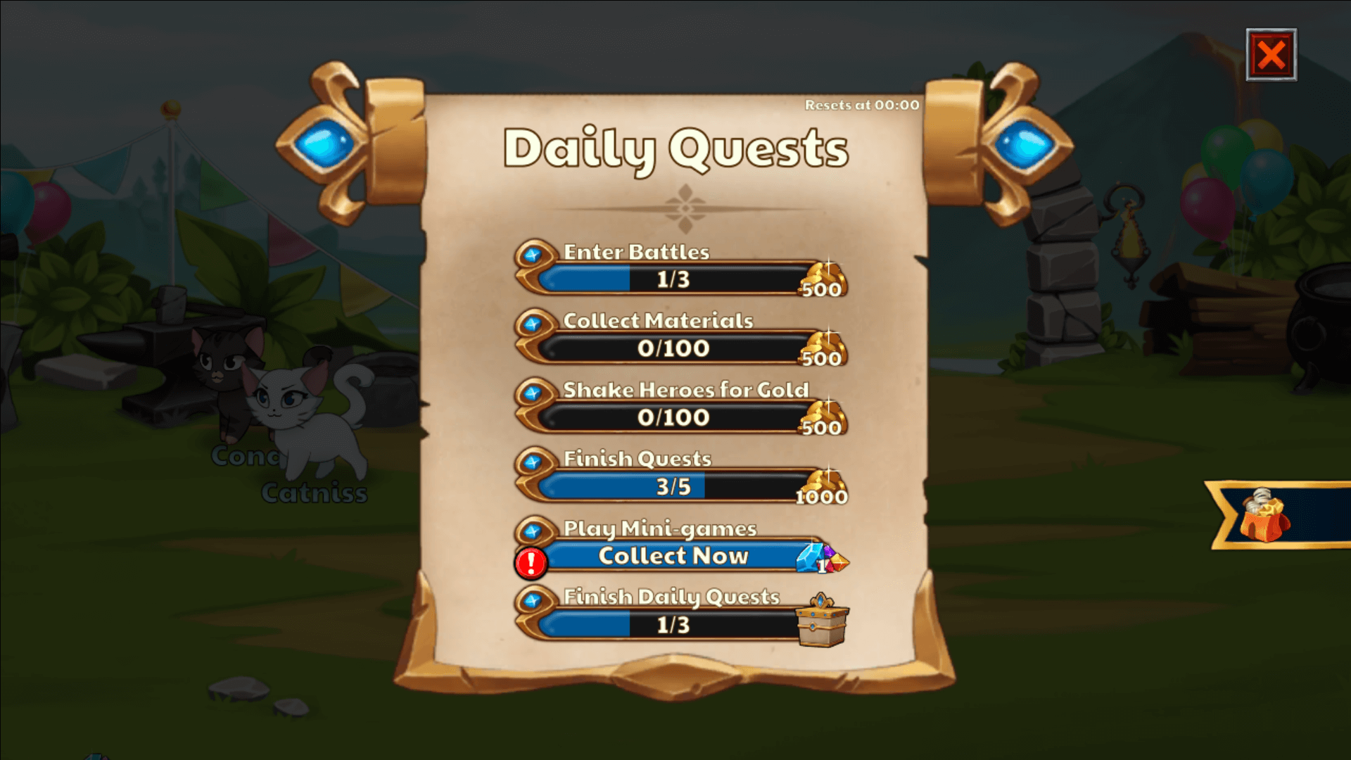 castle cats daily quest scroll