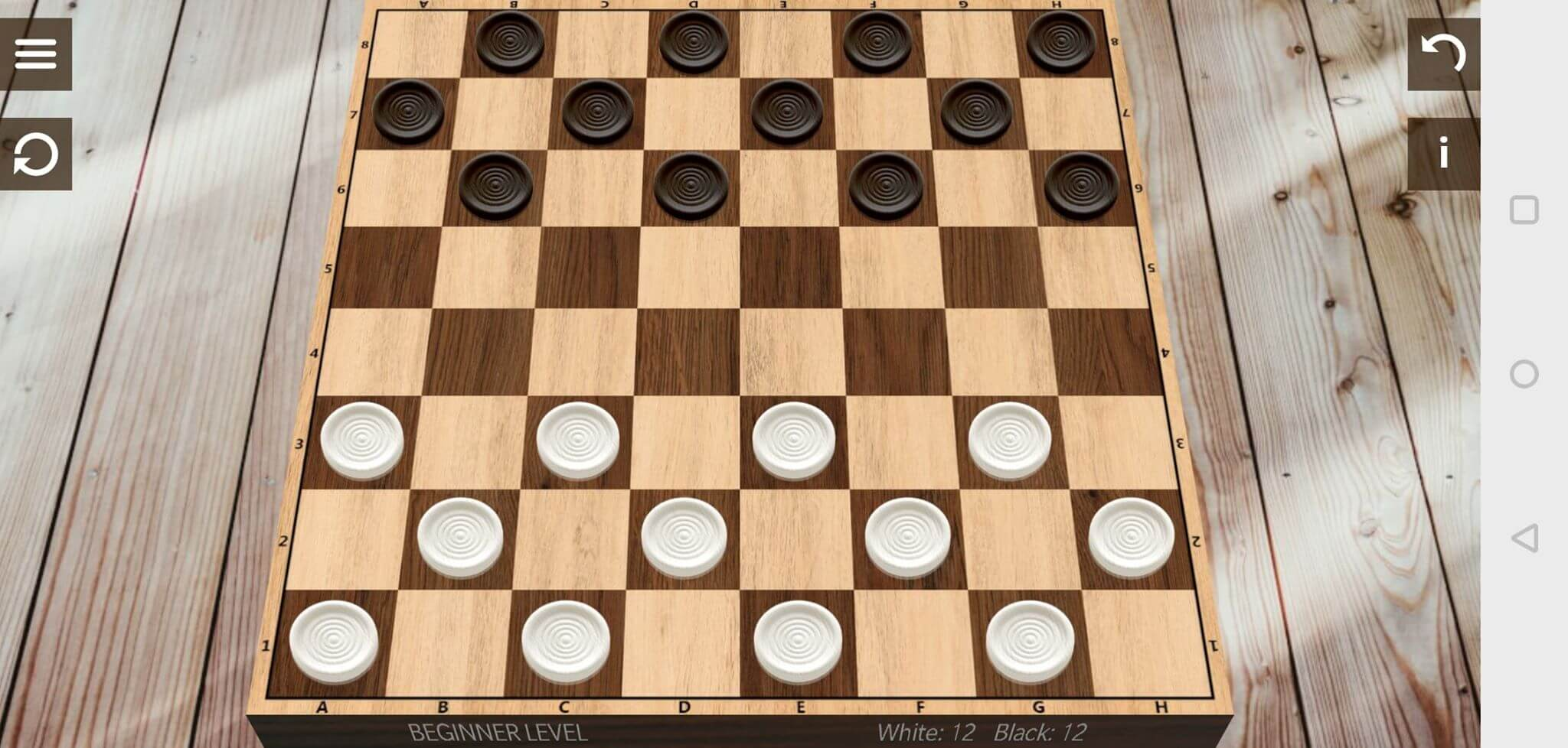 checkers pieces on board